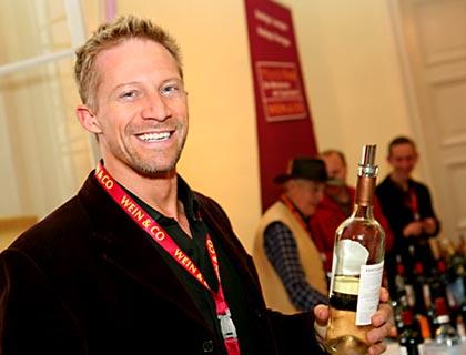 Mark Drendel at wine fair