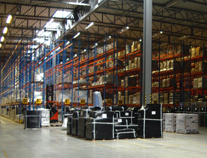 Our warehouse for wine companies in Europe