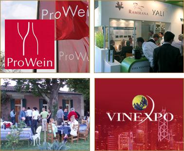 Ferias de vino: ProWein and Vinexpo